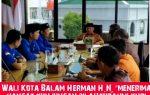 """Walikota Balam Herman H.N, """"Menerima Hangat Kunjungan Silahturahmi KNPI Bandar Lampung"""""""