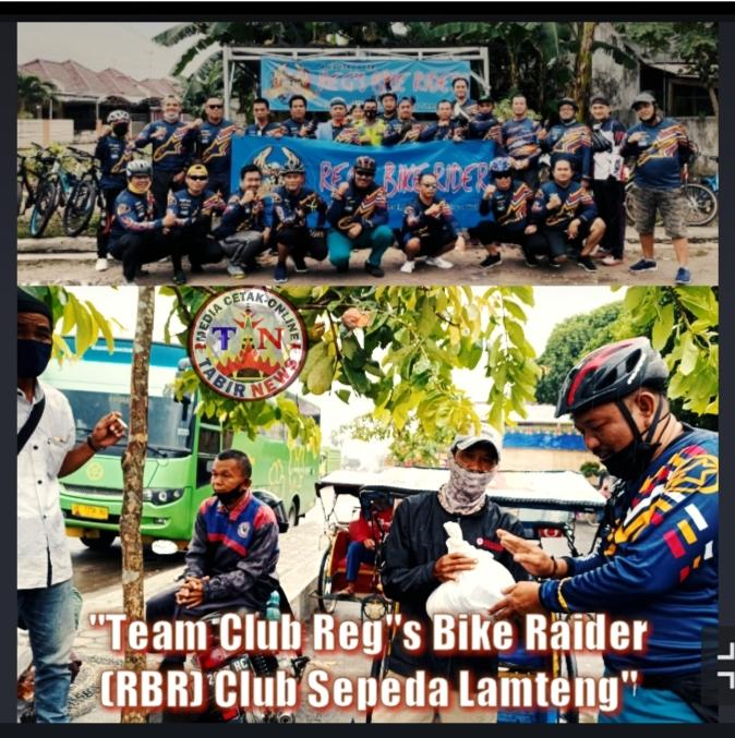 """""""Team Club Reg""""s Bike Raider (RBR) Club Sepeda Lamteng Gelar Kegiatan Jum'at Berbagi"""""""